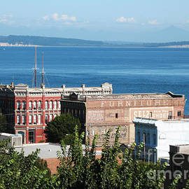 Port Townsend From the Bell Tower by Connie Fox