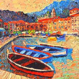 Portofino - Colorful Boats And Reflections In Dawn Light - Italy Liguria Riviera by Ana Maria Edulescu