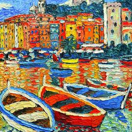 Ana Maria Edulescu - Portovenere Harbor - Italy - Ligurian Riviera - Colorful Boats And Reflections