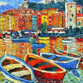 Portovenere Harbor - Italy - Ligurian Riviera - Colorful Boats And Reflections by Ana Maria Edulescu