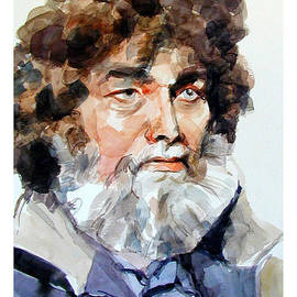 Watercolor Portrait Of A Sailor by Greta Corens