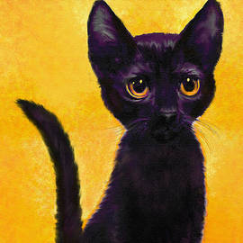 Jane Schnetlage - portrait of a small black cat named  LuLu