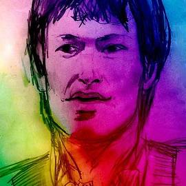 Rainbow Portrait of Stevie Winwood by Joan-Violet Stretch