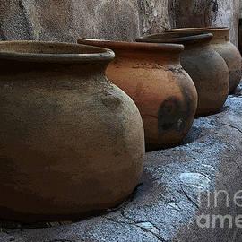 Pottery Mission San Jose De Tumacacori by Bob Christopher