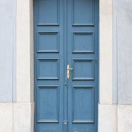 Prague Blue Door by Thomas Marchessault