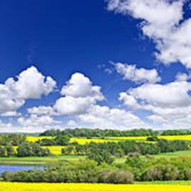 Prairie panorama in Saskatchewan by Elena Elisseeva