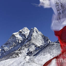 Robert Preston - Prayer flags and mountains in the Everest Region of Nepal