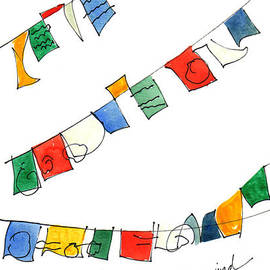 Prayer Flags In Wind by Anna Elkins