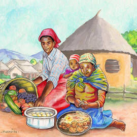 Preparing Food by Anthony Mwangi