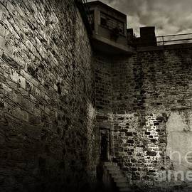 Prison Walls in Black and White by Paul Ward