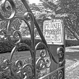 Private Property black and white by Barbara McDevitt