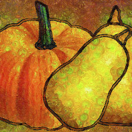 Pumpkin Art Abstract Realism by Isabella Howard