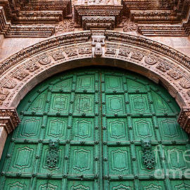 Puno Cathedral Door 2 by James Brunker