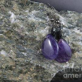 Purple Amethyst Earrings by Vivian Martin
