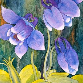 Purple Columbine by Teresa Ascone