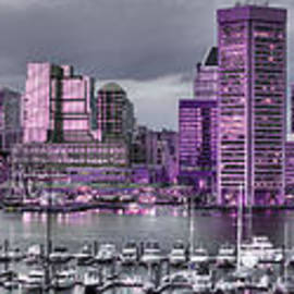 Purple Glow On Charm City by Dennis Dame