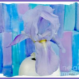 Purple Iris Muted Background by Marsha Heiken