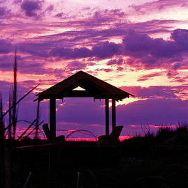 Purple Sunset by Jean Wright