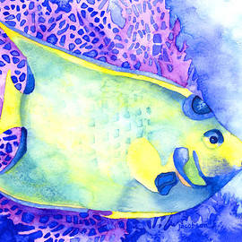 Queen Angelfish by Pauline Walsh Jacobson