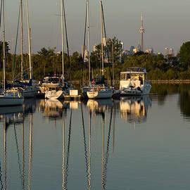 Georgia Mizuleva - Quiet Summer Afternoon - Sailboats and Downtown Skyline
