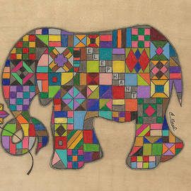 Quilted Elephant by Carol Neal