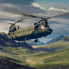 Nop Briex - RAF Chinook CH-47 on exercise