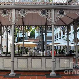 Raffles Hotel Courtyard bar and restaurant Singapore by Imran Ahmed