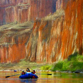 Rafting through the Canyon by Bruce Nutting