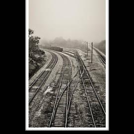 Greg Jackson - Rail Yard Fog  black and white collection - black border