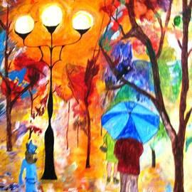 Rain Dance of Color by MIchelle Reid