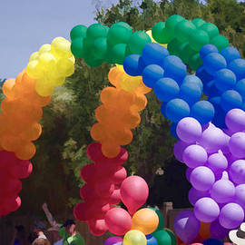 Rainbow Balloons  by Photographic Art by Russel Ray Photos