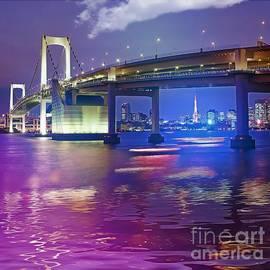Rainbow Bridge at night by Stefano Senise