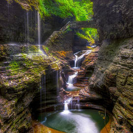 Rainbow Falls of Watkins Glen by Mark Papke