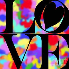Kasia Bitner - Rainbow Love in Black