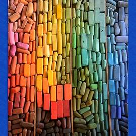 Rainbow of Pastel Chalk  by Kae Cheatham