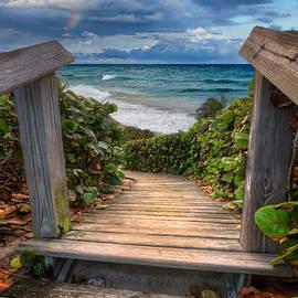 Rainbow over the Ocean by Debra and Dave Vanderlaan
