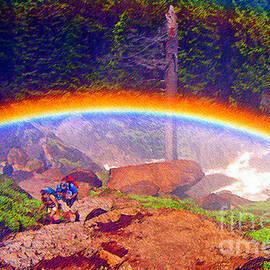 Rainbow Yosemite National Park by Jerome Stumphauzer