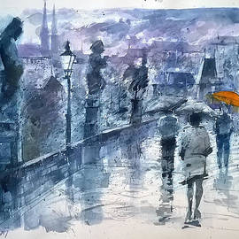 Lorand Sipos - Rainy day in Prague SOLD