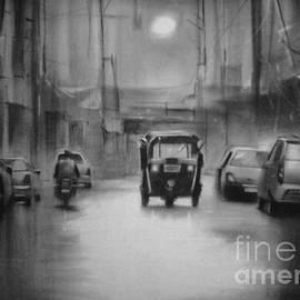 Artist Vivekananad Patil - Rainy night