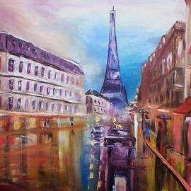 Rainy Paris by Elena Sokolova
