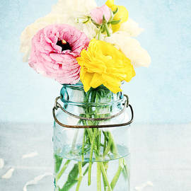 Stephanie Frey - Ranunculus in a Mason Jar