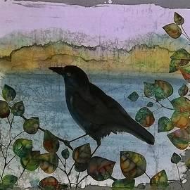 Carolyn Doe - Raven in Colored Leaves
