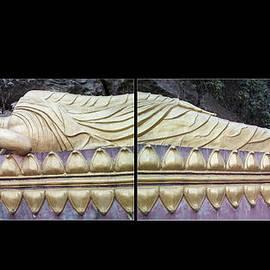 Asian Art - Reclining Buddha By Jo Ann Tomaselli by Jo Ann Tomaselli