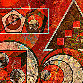 Ally  White - Red And Black Abstract