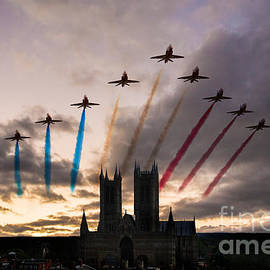 J Biggadike - Red Arrows over Lincoln Cathedral