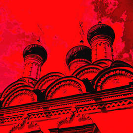 Red church by Lali Kacharava