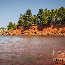 Red cliffs of Prince Edward Island by Elena Elisseeva