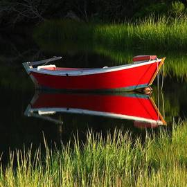 Red Dinghy Of Cape Cod by Juergen Roth