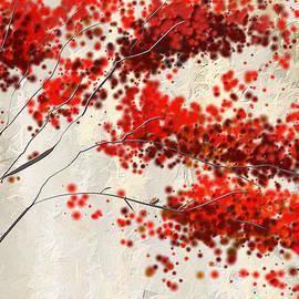Red Divine- Autumn Impressionist by Lourry Legarde
