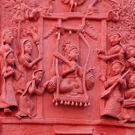 Sue Jacobi - Red Fresco Palace King Women Music 6 Udaipur Rajasthan India